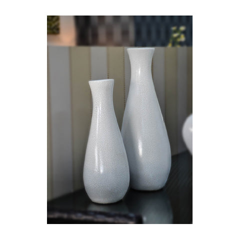Vase Set of 2 Small Cracked
