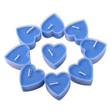 9pc/lot Creative  Heart-Shape Party Scented Candles  6 Colors