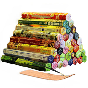 3/4/6/9/12Boxes tibetan Incense Stick With Plate Indian Incense Premium Multiple Flavor Mixed Package sandalwood incense