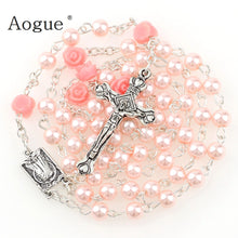 Glass Imitation Pearl Bead Holy Rosaries