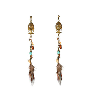 Buddhism Eardrop Earrings