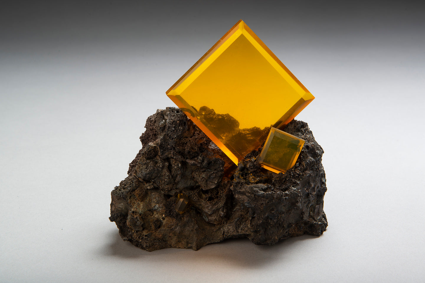 Glass Wulfenite specimen sculpture