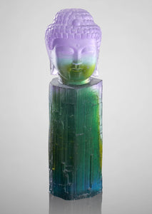 watermelon tourmaline crystal buddha sculpture