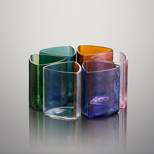 Reuleaux tourmaline glass (Set of Six)