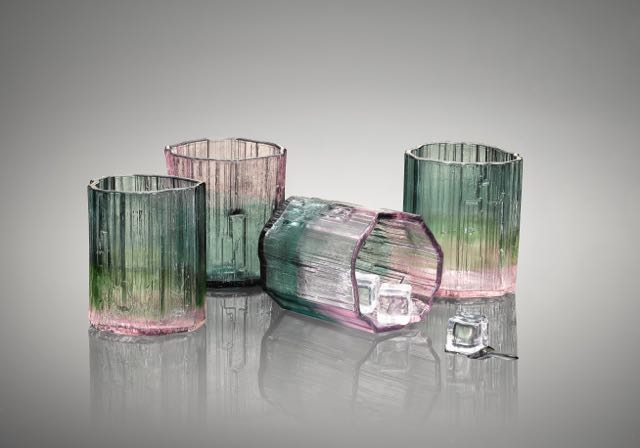 Tourmaline Rocks glasses (set of 4)