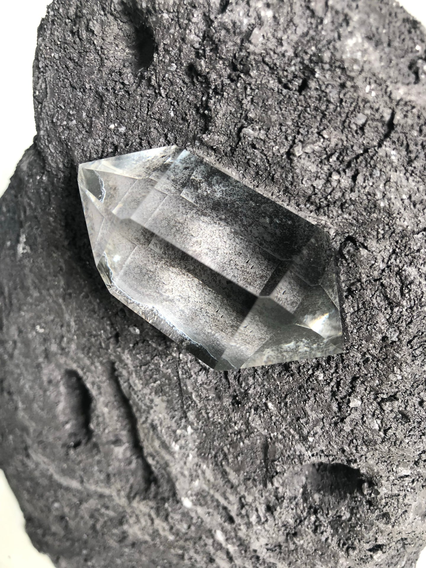 Herkimer diamond sculpture
