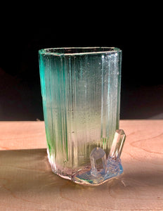 Tourmaline shot glass/bud vase with crystals