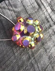 Contemporary Art Nodule (golden ruby) pendant