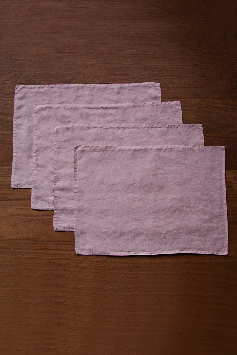 Antique Rose Linen Table Placemats