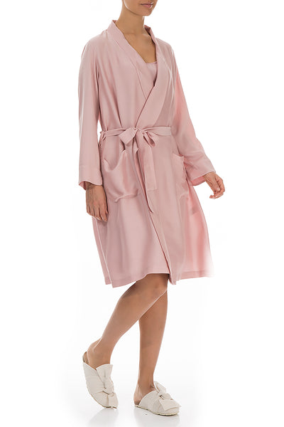 Antique Rose Silk Bamboo Bathrobe