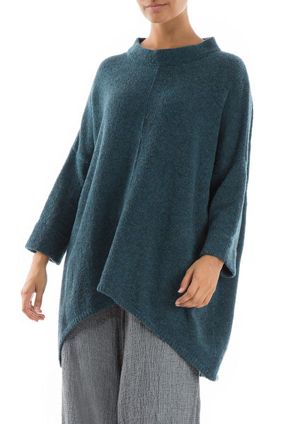 Relaxed Blue Emerald Wool Sweater