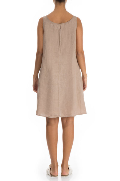 Beige Linen Night Dress