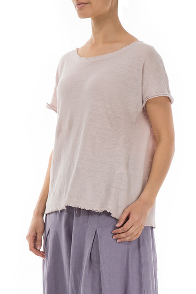 Beige Thin Linen Top - GRIZAS | Natural Contemporary Womenswear