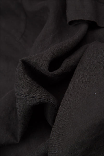 Loose Black Linen Trousers