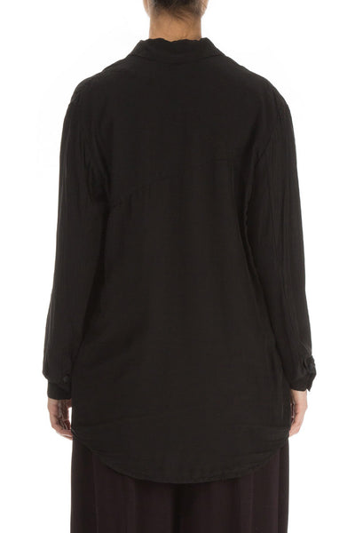 Black Silk Bamboo Shirt