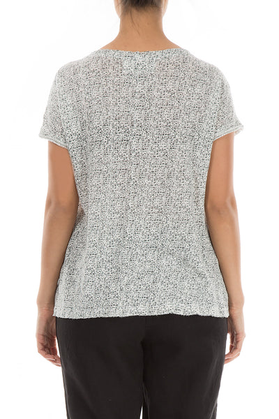 Black & White Thin Linen Top - GRIZAS | Natural Contemporary Womenswear