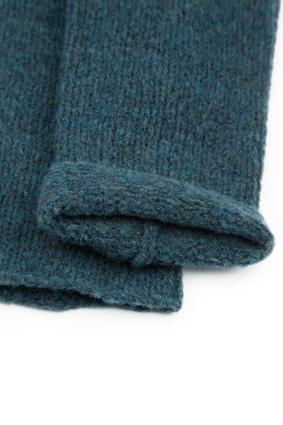 Blue Emerald Wool Leg Warmers