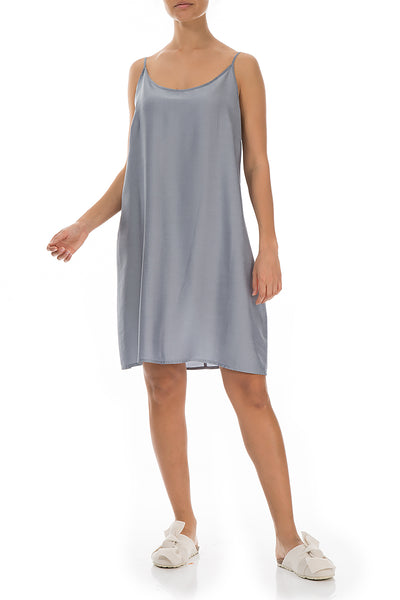 Blue Iris Silk Bamboo Night Dress