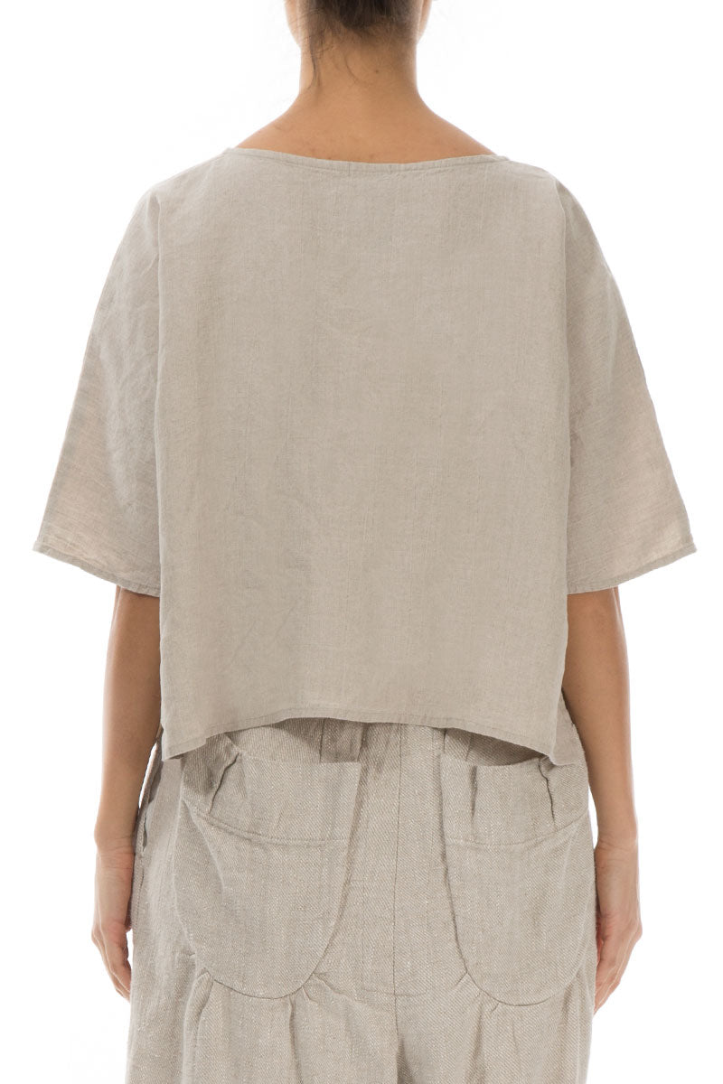 Boxy Natural Linen Blouse