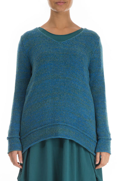 Bright Blue Wool Sweater