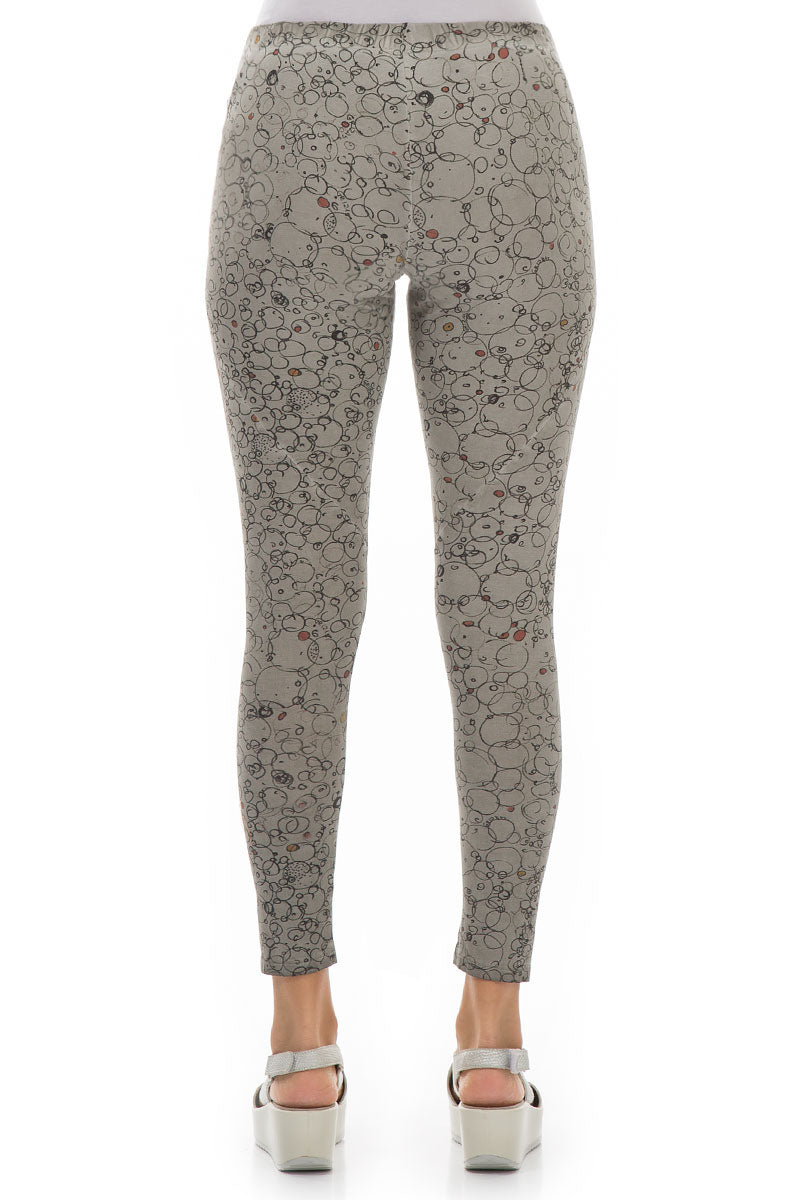 Bubbly Washed Out Taupe Cotton Leggings