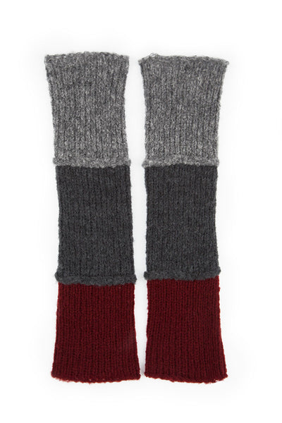Dark Red & Grey Wool Wrists