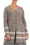 Buttoned Light Brown Wool Sweater