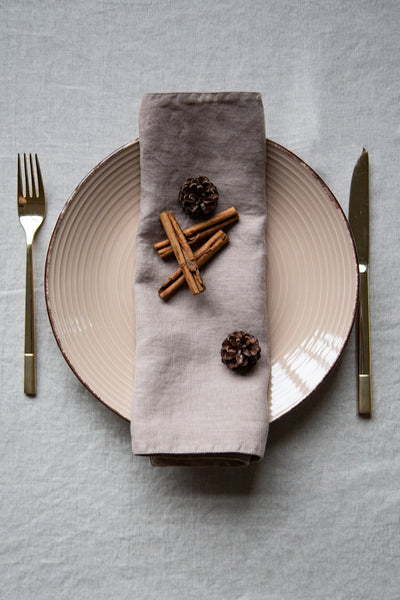Cappuccino Linen Table Placemats