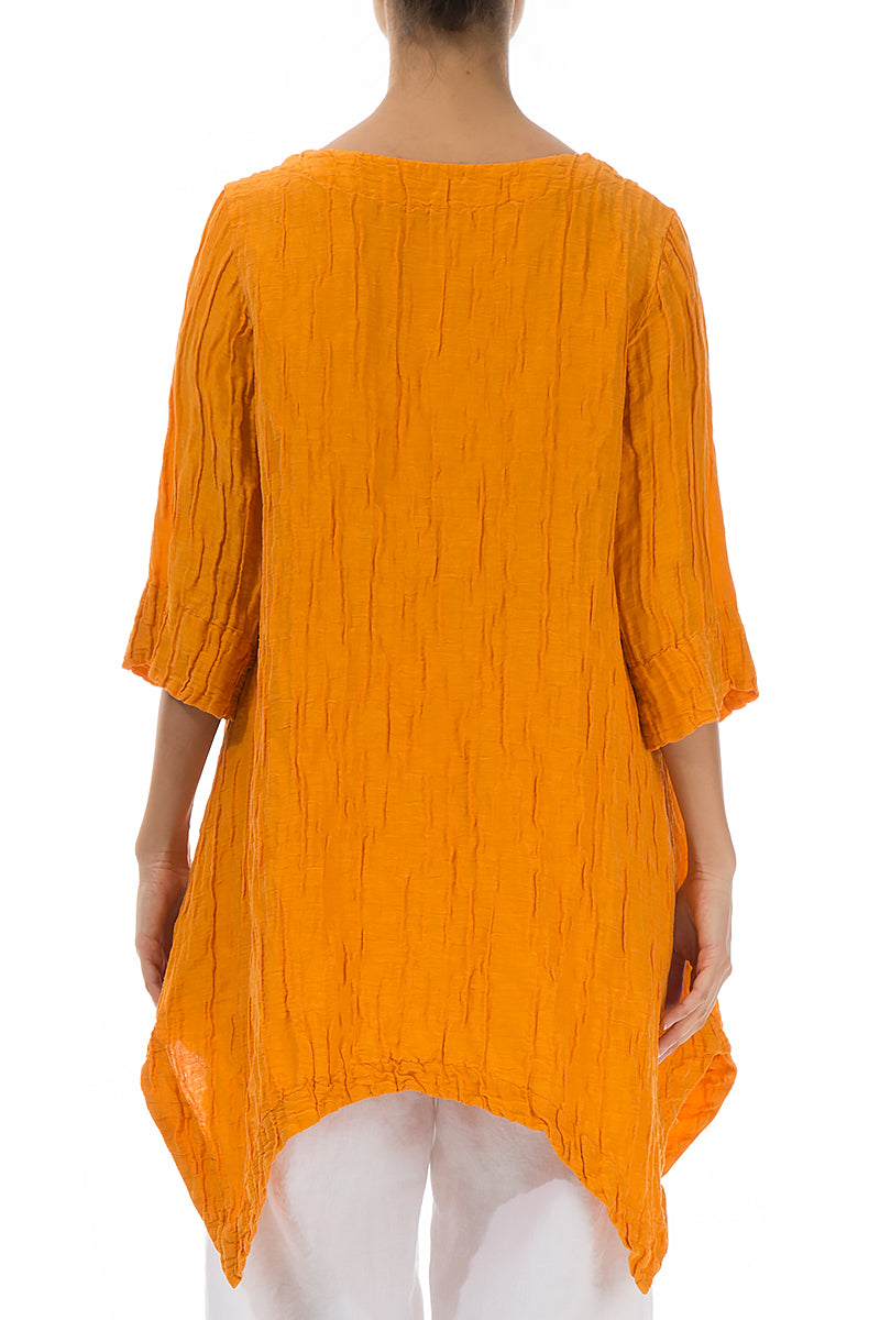 Crinkled Goldfish Silk Linen Tunic