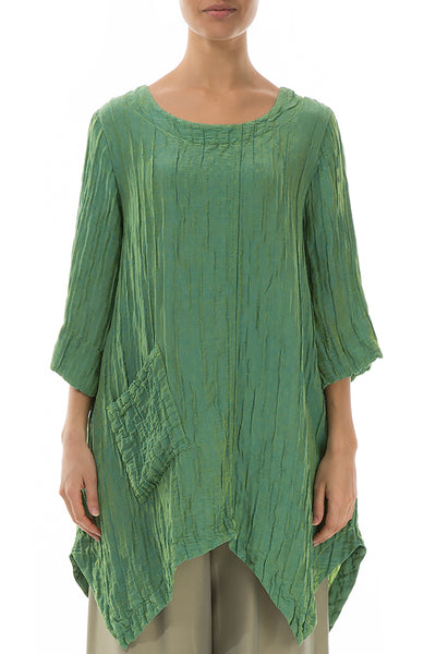 Crinkled Pear Silk Linen Tunic