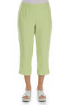 Cropped Lime Linen Trousers