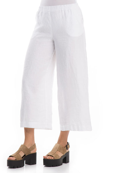 Loose White Linen Trousers - GRIZAS | Natural Contemporary Womenswear