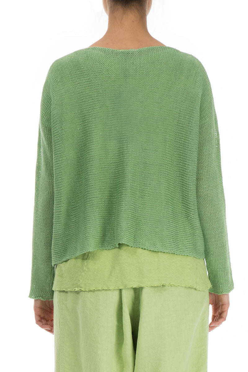 Cut Out Mint Sweater