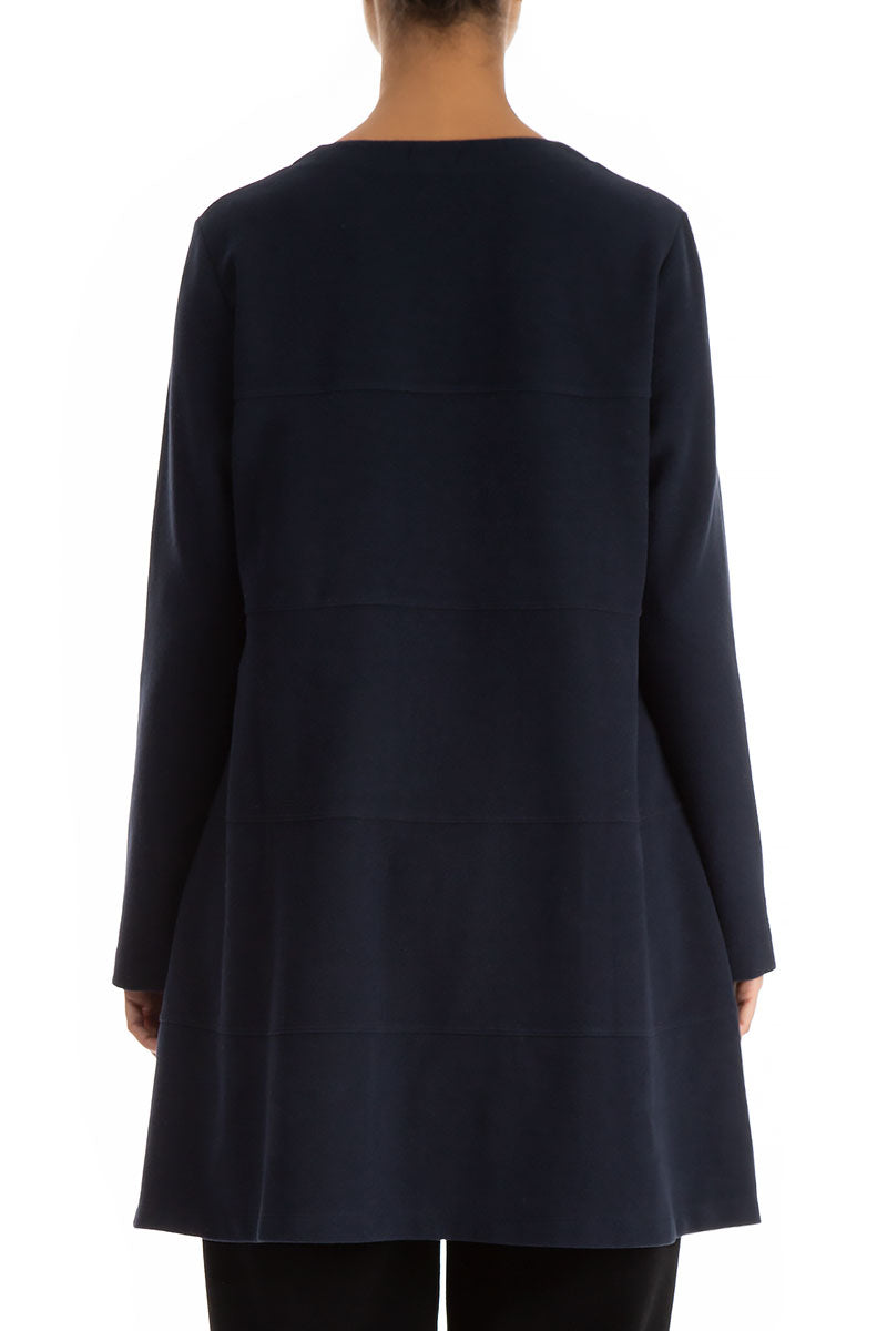 Dark Blue Cotton Jersey Tunic