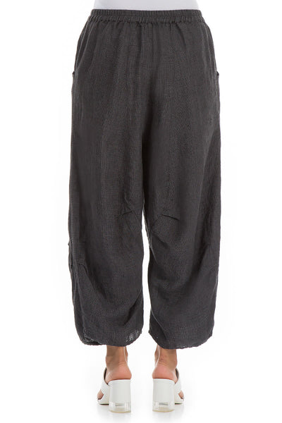 Dark Grey Linen Trousers