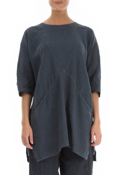 Dark Grey Linen Tunic