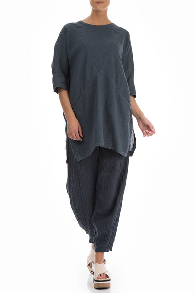 Dark Grey Linen Tunic - GRIZAS | Natural Contemporary Womenswear