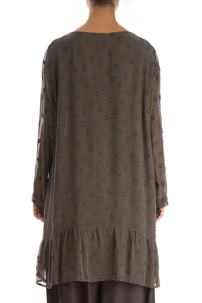 Dotty Decorated Ash Silk Tunic