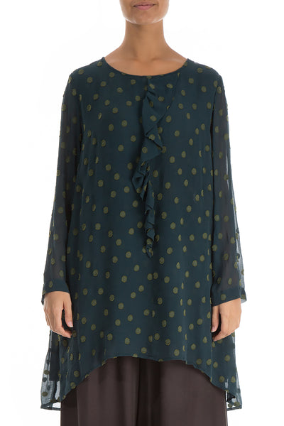 Dotty Decorated Pine Silk Tunic