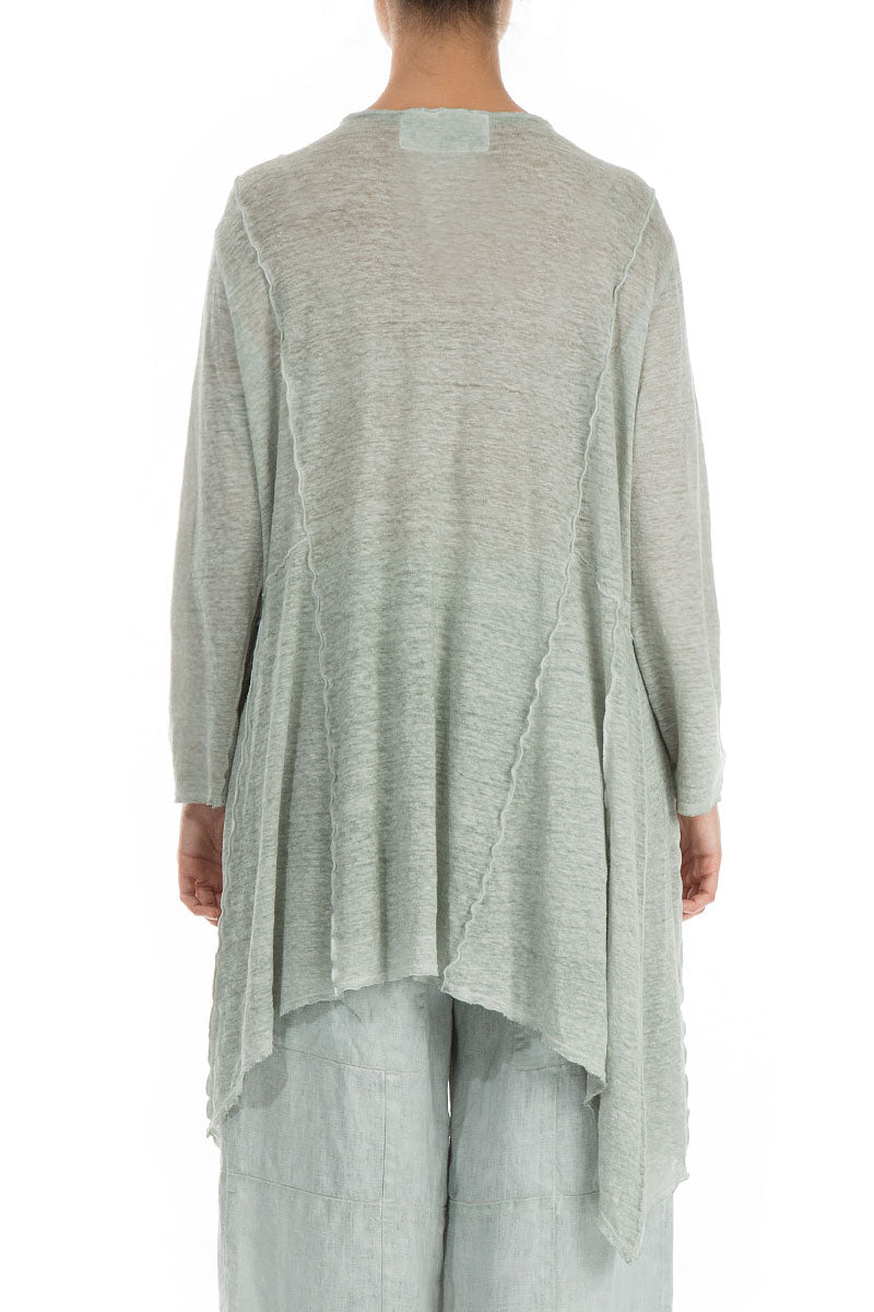 Dropped Edge Washed Out Breeze Linen Jersey Tunic