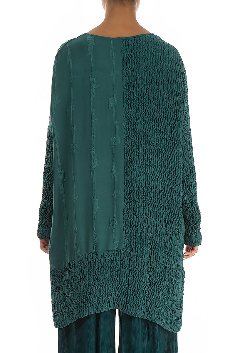Dual Emerald Pure Silk Tunic
