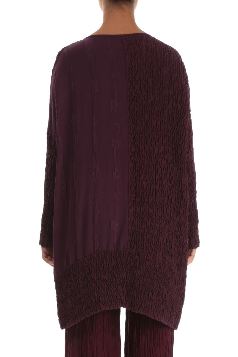 Dual Wine Pure Silk Tunic