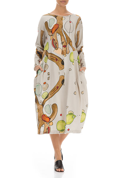 Earthy Balloon Cotton Dress