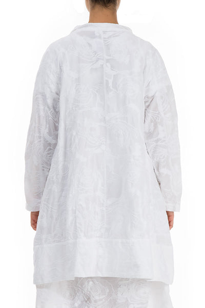 Embroidered White Cotton Jacket