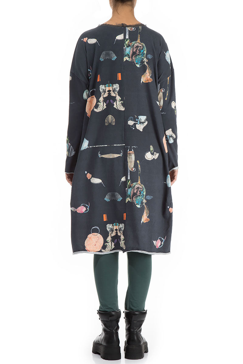 Midi Fairy-Tale Print Cotton Dress