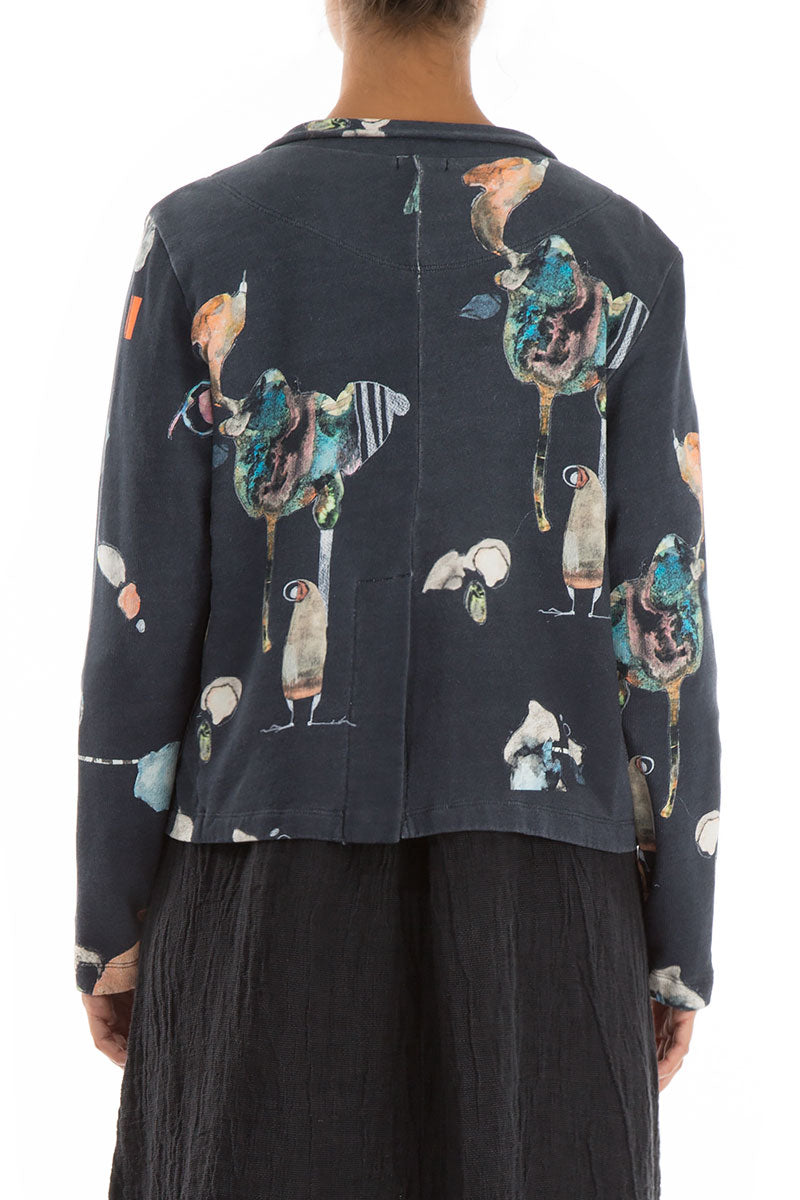 Fairy-Tale Print Short Cotton Jacket