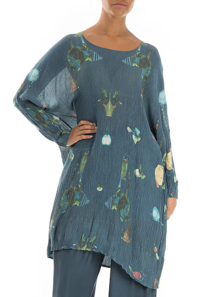 Fairy-Tale Print Silk Viscose Tunic