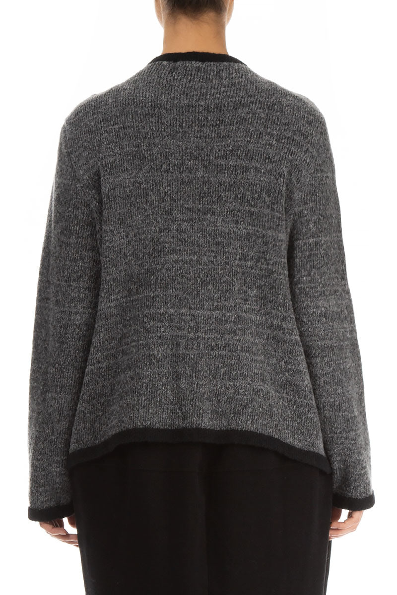Formal Grey Wool Cardigan
