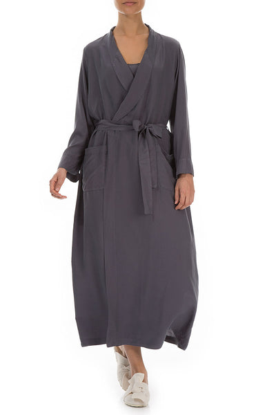 Graphite Silk Bamboo Bathrobe