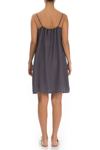 Graphite Silk Bamboo Night Dress